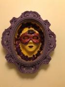 artisanat dart personnages masque decoratif masque gothique masque jaune masque iolet : masque gothique