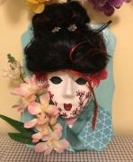 artisanat dart personnages masque geisha masque japon masque culturel masque decoratif : masque geisha