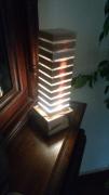 deco design lampe luminaire bois decoration : colonne de lumière