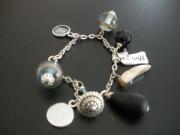 bijoux abstrait perle bracelet breloques ange : BRACELET TAHITI
