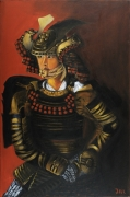tableau personnages asie japon homme brunrouge : Samouraï