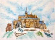 tableau paysages le mont saint michel normandie bretagne ocean : LE MONT SAINT MICHEL 5