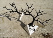 sculpture nature morte arbre fimo : Vent d'hiver