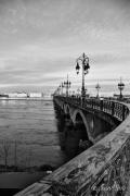 photo villes pont bordeaux noir et blanc : Pont de pierre, Bordeaux