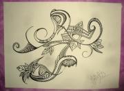 dessin abstrait abstrait dessin encre noir : Quelques notes