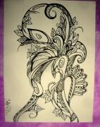 dessin abstrait abstrait : Drôle d'oiseau