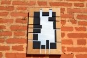 artisanat dart abstrait miroir travail du bois decoration murale contemporain et orig : MIROIR