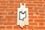 artisanat dart abstrait miroir travail du bois artisanal contemporain et orig : MIROIR