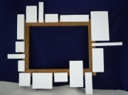 artisanat dart abstrait cadre chassis decore artisanal et contemp : CADRE