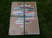 artisanat dart abstrait silhouette tete femi collage decoration murale ab composition de 4 qua : SILHOUETTE