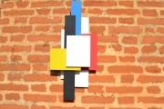 artisanat dart abstrait decoration murale 3d applique travail du bois arti contemporain et orig : SILHOUETTE 3D