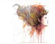 tableau personnages portrait acrylique carte : Chloe