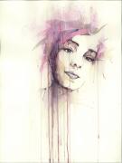 tableau personnages portrait acrylique carte : Marion