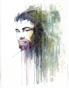 tableau personnages portrait acrylique carte : Drat