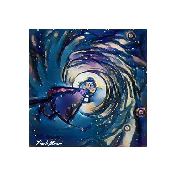 ART NUMéRIQUE Zen moine abstrait route Abstrait  - Le moine