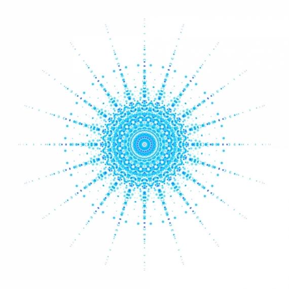 ART NUMéRIQUE Mandala zen bleu Cercle  - Mandala Bleu
