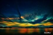 art numerique paysages soleil mer nuages crepuscule : Perfect Sunset