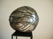 sculpture autres acier sculpture oeuf metal : L'œuf du dragon céleste