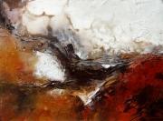 tableau abstrait bearn biarritz vapeur paysage : Perdus