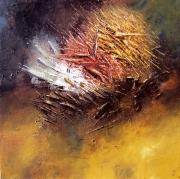 tableau abstrait abstrait explosion bearn biarritz : La forge des âmes