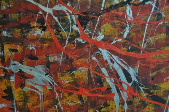 TABLEAU PEINTURE expressionnisme abst action painting dripping jjminardi Abstrait Acrylique  - AP20201016