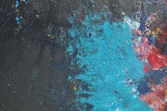 TABLEAU PEINTURE art brut abstrait jjminardi Abstrait Acrylique  - 4520201122