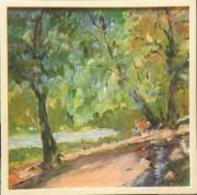 tableau paysages sousbois foret arbres : sous-bois