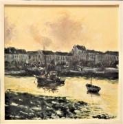 tableau marine port normandie marine bateaux : port normand