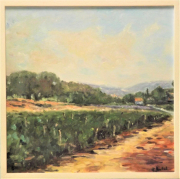 tableau paysages paysage vignes provence : vignes en provence