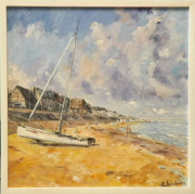 tableau marine marine normandie cabourg voilier : cote normande à Cabourg