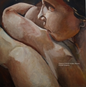 tableau nus nus huile pigments toile : N°1