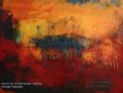 tableau abstrait abstrait lumiere noir pigments : N°35