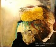 tableau abstrait abstrait acrylique resine pigments : Abstrait
