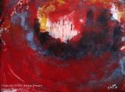tableau abstrait abstrait lumiere noir pigments : N°34