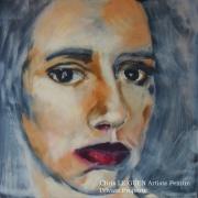 tableau personnages alexa toile huile pigments : Manon