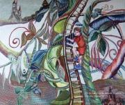 tableau personnages jacques haricot conte mixmedia : Jacques et le Haricot Magique