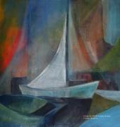 tableau marine bateau ocean pastel toile : Bateau n°1