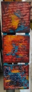 tableau abstrait abstrait lumiere noir bois : N°46