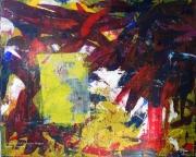 tableau abstrait abstrait lumiere noir mixmedia : N°2
