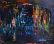 tableau abstrait abstrait noir lumiere pigments : N°3