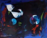 tableau abstrait abstrait lumiere noir pigments : N°10