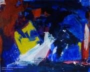 tableau abstrait abstrait lumiere noir mixmedia : N°11