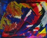 tableau abstrait abstrait lumiere noir mixmedia : N°24