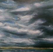 tableau paysages nuages gris bretagne orageyx : Nuages gris
