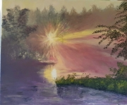 tableau paysages soleil : Explosion de Soleil