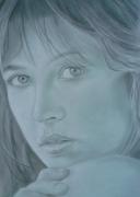 dessin personnages marceau portrait crayon dessin : Sophie Marceau