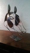 sculpture animaux sculpture metal animal cheval : Sculpture Lychar métal tête de cheval