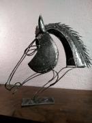 sculpture animaux sculpture metal animal cheval : Sculpture Lychar métal tête de cheval 2