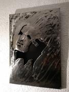 tableau autres tableau metal portrait visage : Tableau LyChar métal portrait