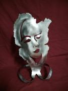 sculpture personnages sculpture inox femme visage : Sculpture Lychar inox portrait 3